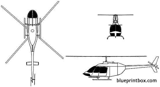 bell 206 jet ranger model airplane plan