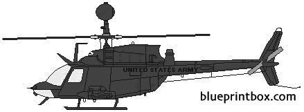 bell 206 oh 58d kiowa model airplane plan