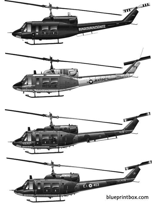 bell 212 uh 1n model airplane plan