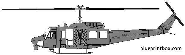 bell 212 uh 1n huey model airplane plan