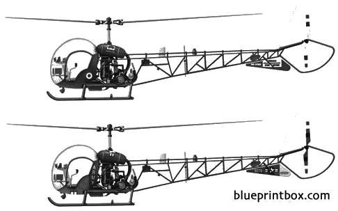 bell 47 ah 1 model airplane plan