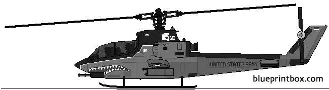 bell ah 1 cobra 3 model airplane plan