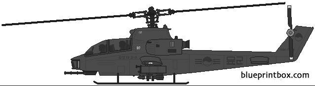 bell ah 1h cobra 2 model airplane plan