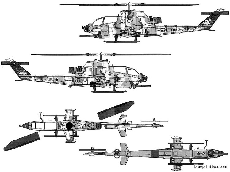 bell ah 1s cobra model airplane plan