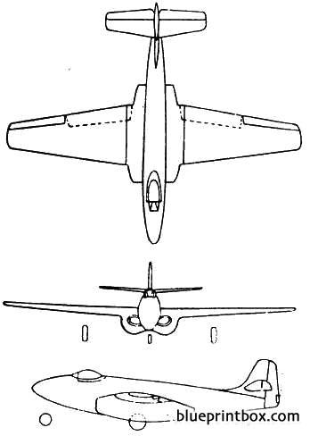 bell p 59a airacomet model airplane plan