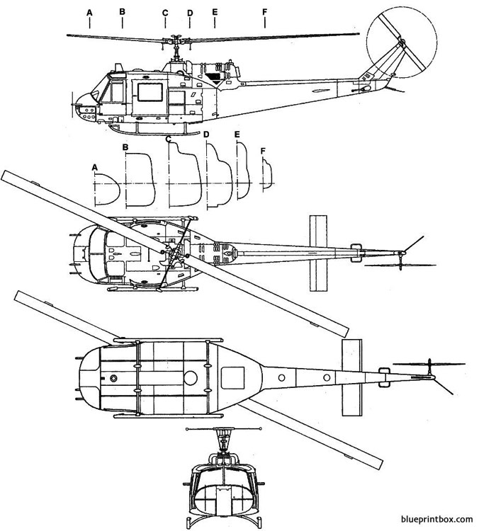 bell uh 1b iroquois model airplane plan