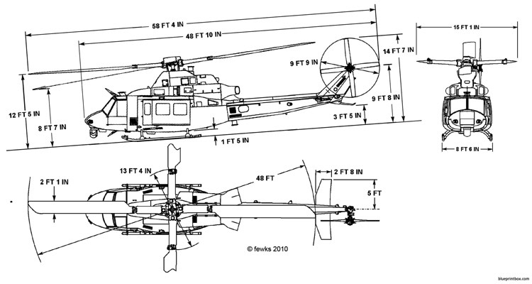 bell uh 1y model airplane plan
