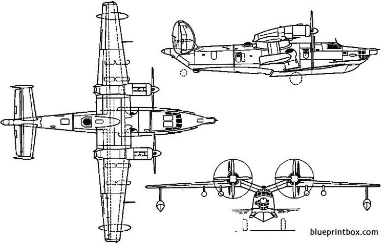 beriev be 12 chaika 1961 russia model airplane plan