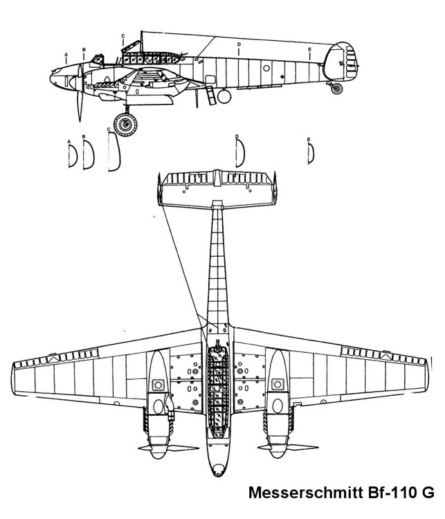 bf110 2 3v model airplane plan