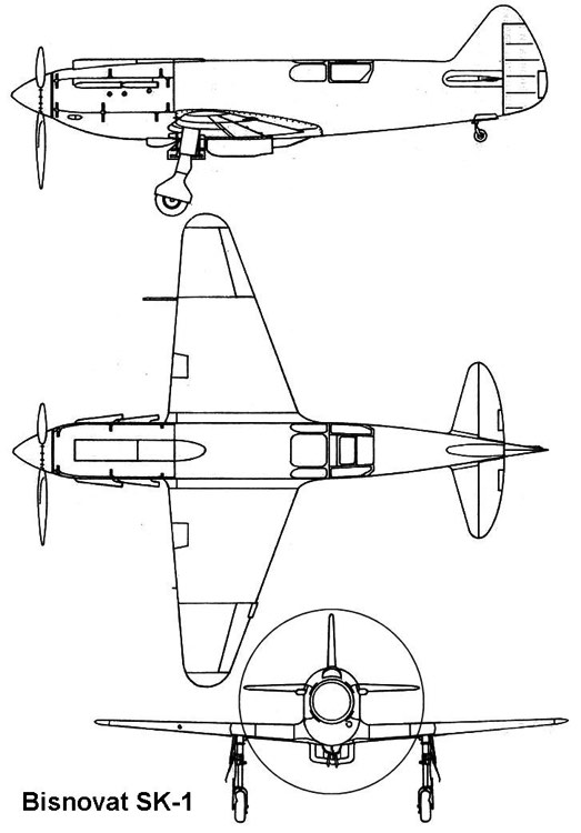 bisnovat 3v model airplane plan