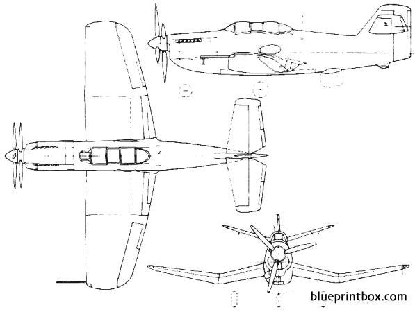 blackburn b 54  ya5 b 88 1949 england model airplane plan