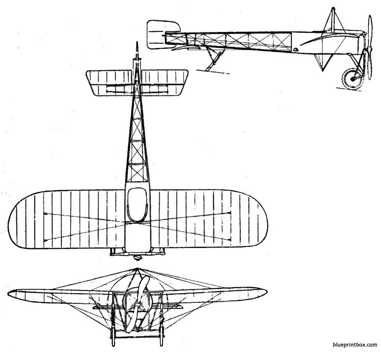 bleriot xi channel crosser 1907 model airplane plan