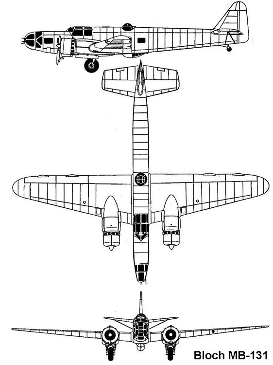 bloch131 3v model airplane plan