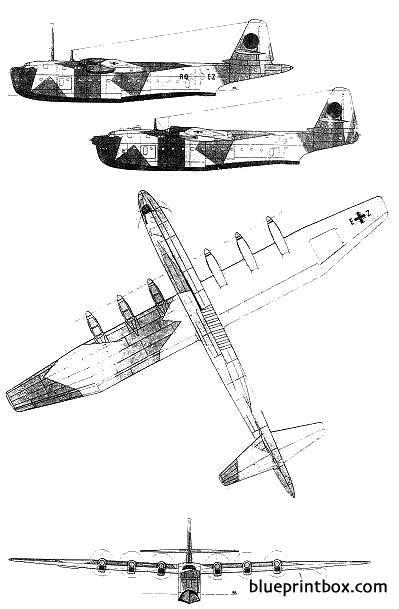 blohm  voss bv 238 model airplane plan