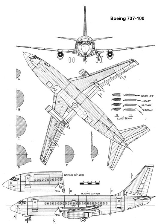 boeing737 3v model airplane plan