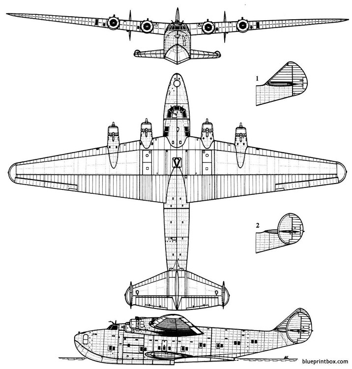 boeing 314 americanclipper model airplane plan