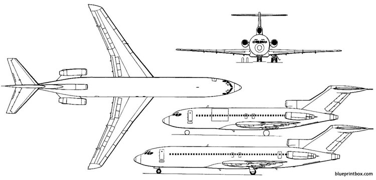 boeing 727 100c and 727 200 03 model airplane plan