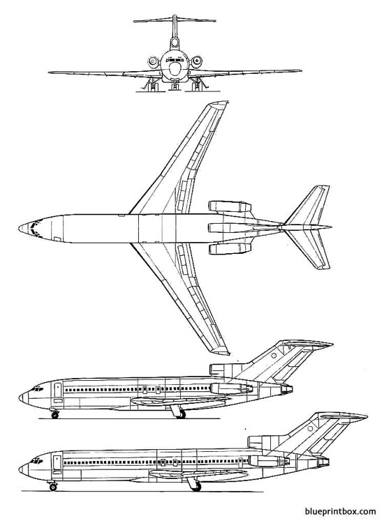 boeing 727 2 model airplane plan