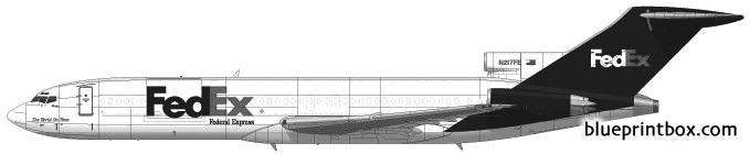 boeing 727 2s2f model airplane plan