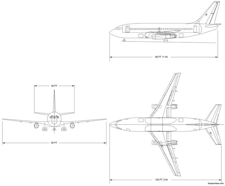 boeing 737 200 model airplane plan