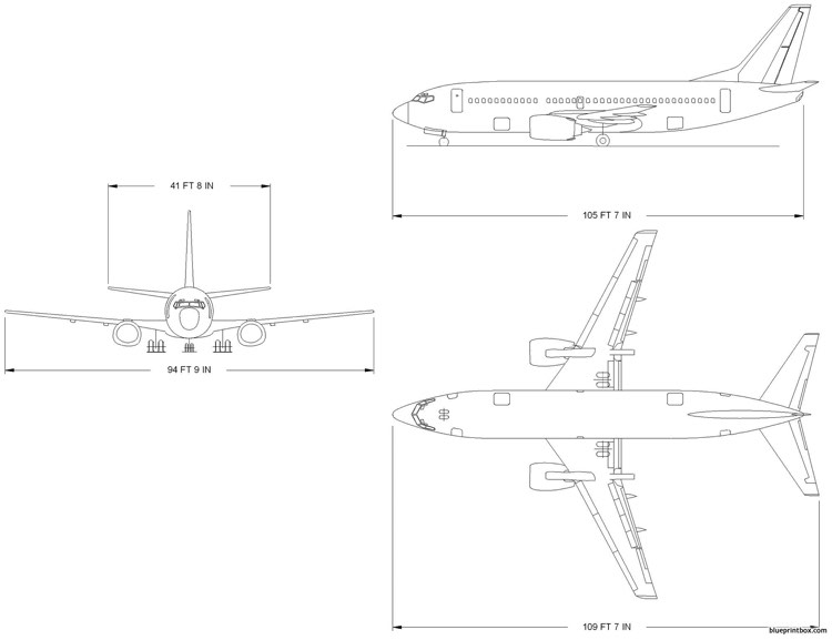 boeing 737 300 model airplane plan