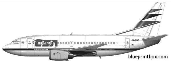 boeing 737 500 02 model airplane plan