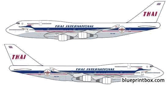 boeing 747 400 model airplane plan