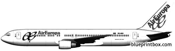 boeing 767 model airplane plan