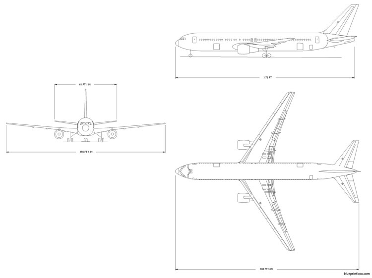 boeing 767 300 model airplane plan