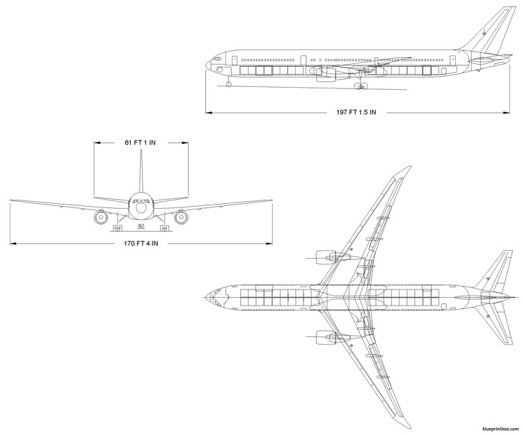 boeing 767 400 model airplane plan