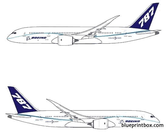 boeing 787 8 dreamliner model airplane plan