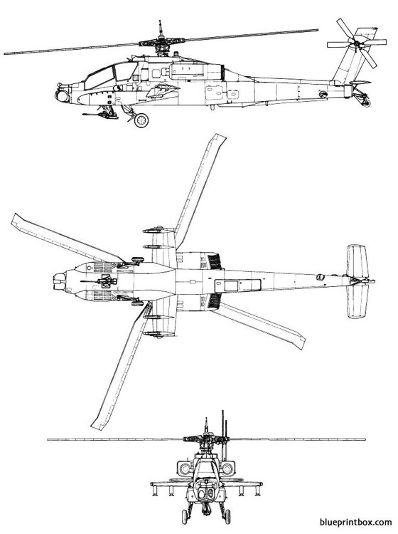 boeing ah 64 apache model airplane plan