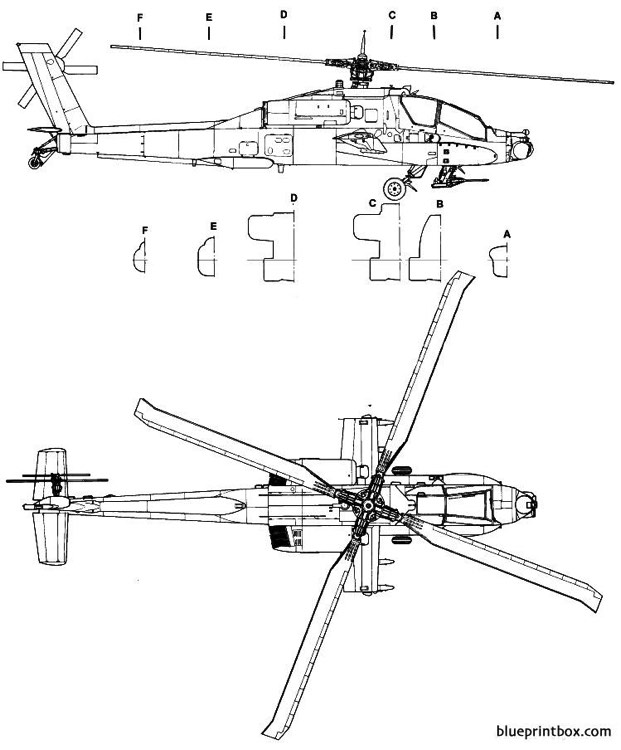 boeing ah 64 apache  2 model airplane plan