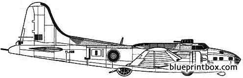 boeing b 17e flying fortress model airplane plan