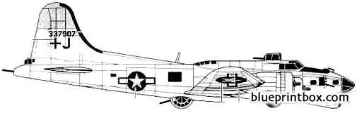 boeing b 17g flying fortress model airplane plan