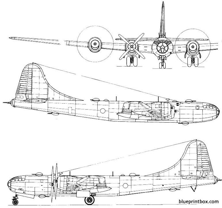 boeing b 29 superfortress model airplane plan