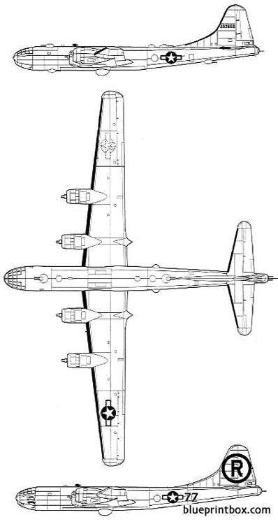 boeing b 29a superfortress 2 model airplane plan