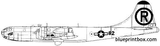 boeing b 29a superfortress enola gay model airplane plan