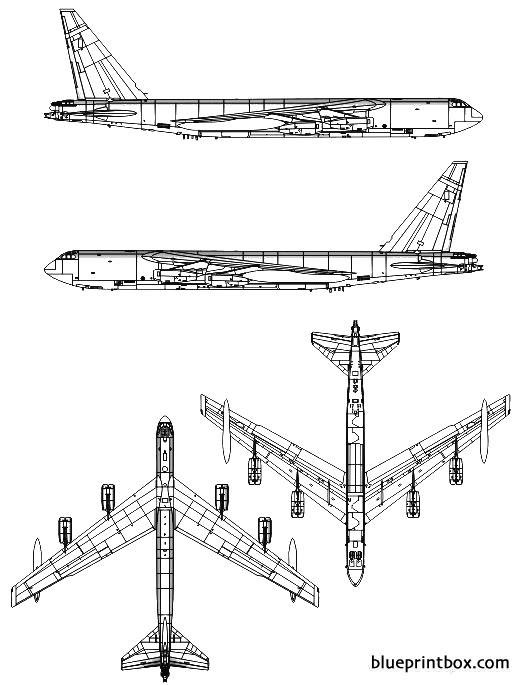 boeing b 52d stratofortress model airplane plan