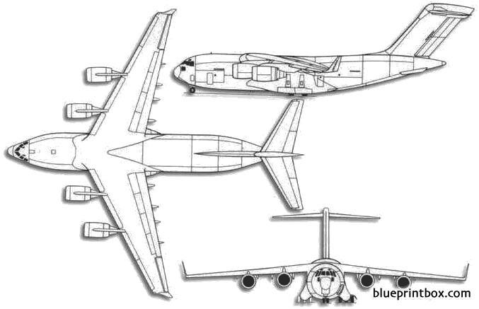 boeing c 17 globemaster iii model airplane plan