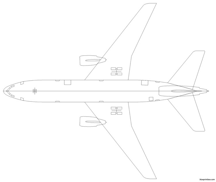 boeing dc10 model airplane plan