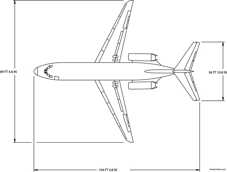 boeing dc9 15 model airplane plan