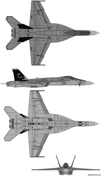 boeing mcdonnell douglas fa 18ef super hornet model airplane plan
