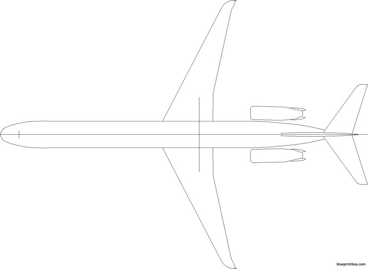 boeing md80 model airplane plan