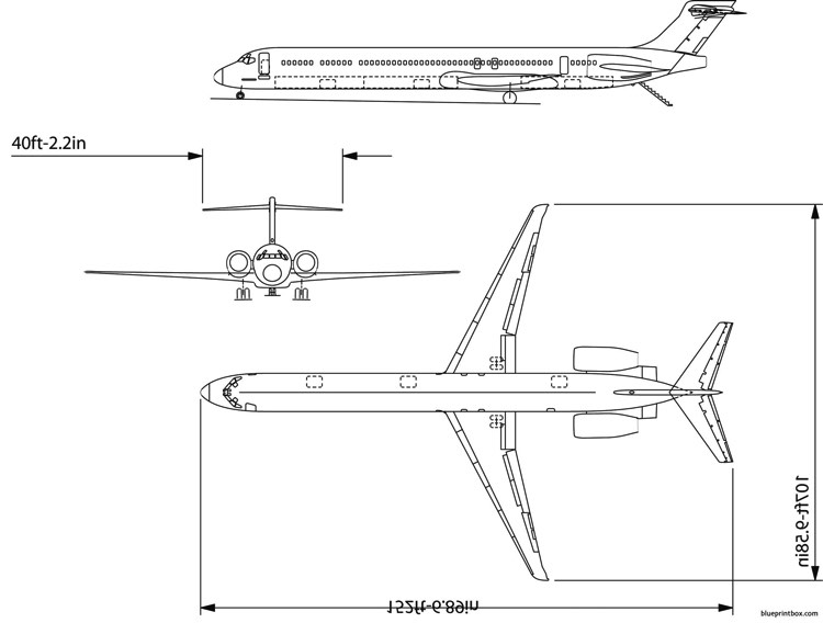 boeing md90 model airplane plan