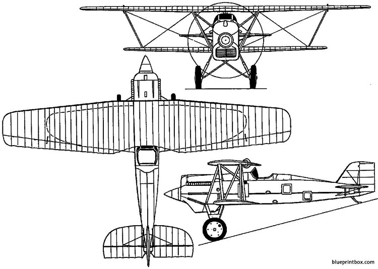 boeing model 15  pw 9  fb 1923 usa model airplane plan