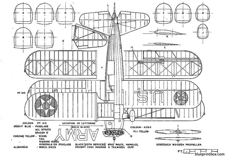 boeing stearman pt 17 kaydet 2 model airplane plan