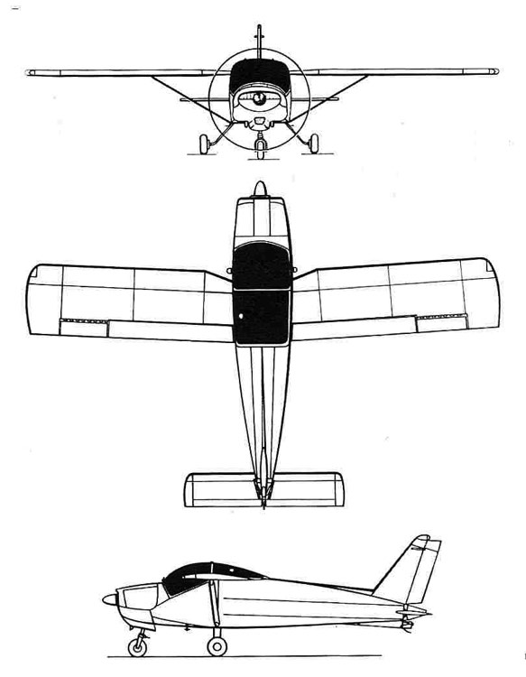 bolkow 3v model airplane plan
