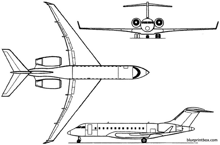 bombardier bd 700 global express 1996 canada model airplane plan
