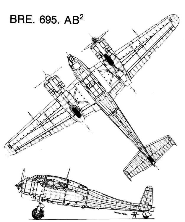 br695 2 3v model airplane plan